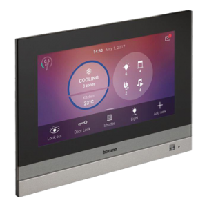 """Side view of HOMETOUCH 7"""" screen"""