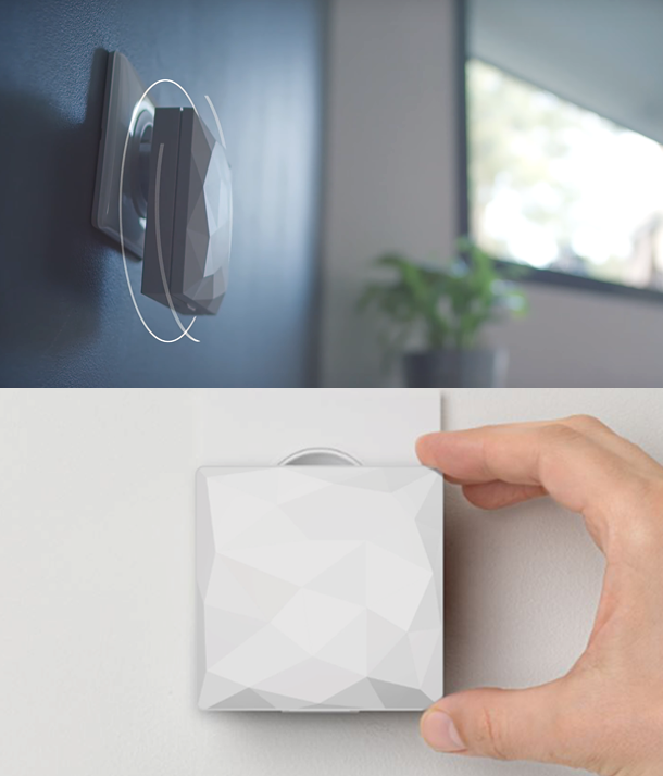Image of the iDiamant in a house and plugged