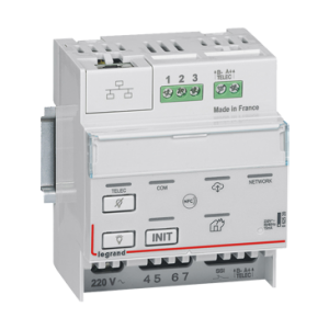 Side view of the emergency lighting controller