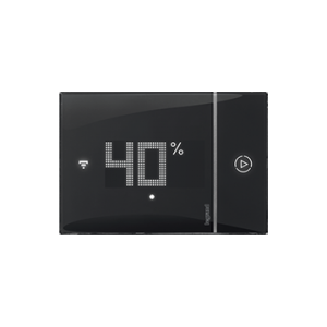 Front view of Smarther with Netatmo black version