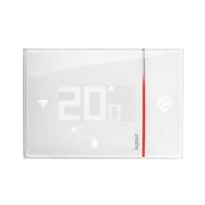 Front view of Smarther with Netatmo white version