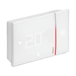 Front view of Smarther with Netatmo white version and flush mounted